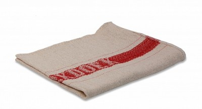 Werkdoek rode band 40 x 50 cm