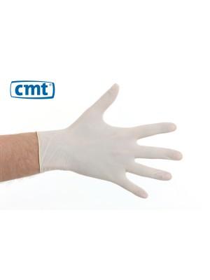 Latex wegwerphandschoen wit gepoederd 100 stuks [S-XL]