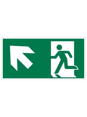 Veiligheidspictogram - Vluchtweg Trap op links - bord
