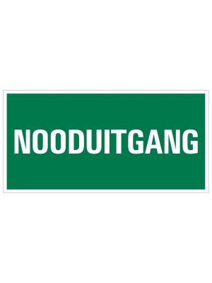 Veiligheidspictogram - Vluchtweg Nooduitgang - bord