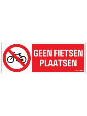 Veiligheidspictogram - Geen fietsen plaatsen - bord