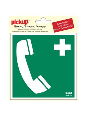 Veiligheidspictogram - Telefoon voor redding/1e hulp - vinyl