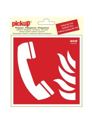 Veiligheidspictogram - Telefoon voor brandalarm - vinyl