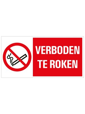 Veiligheidspictogram - Verboden te roken - combibord