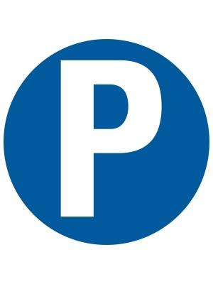 Veiligheidspictogram - Parkeren P - rond
