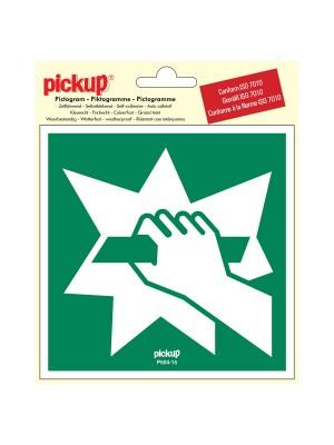 Veiligheidspictogram - Ruit inslaan om vluchtweg te - vinyl