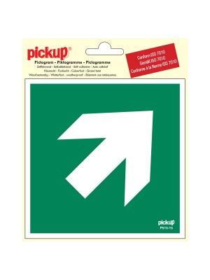 Veiligheidspictogram - Richtingspijl 45 - vinyl