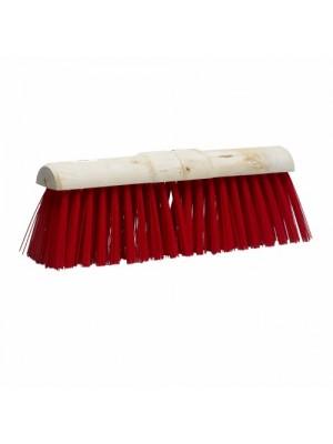 Gemeentebezem PVC rood 45 cm